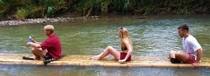 thai bamboo rafting
