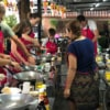 group of people learning thai cooking