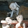 various buddha statues inside chiang dao cave