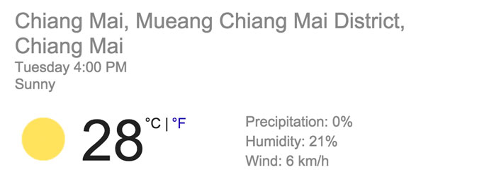 chiang mai weather