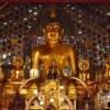 interior of doi suthep temple with buddha statues