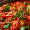 close up of panaeng curry dish