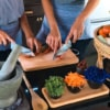 cutting chillies