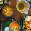 selection of homemade authentic thai dishes
