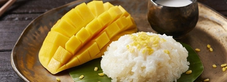 homemade mango and sticky rice