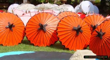 variety of umbrellas at bo sang, the famous umbrella village