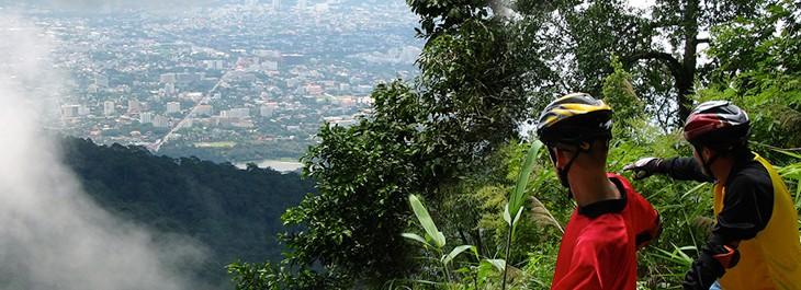 beautiful mountain view overlooking chiang mai city