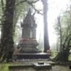small pagoda surrounded my trees