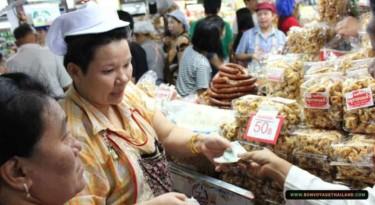 local vendor selling local snacks