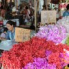 local orchid flowers stall at warorot market