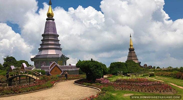 king and queen pagodas at doi inthanon national park
