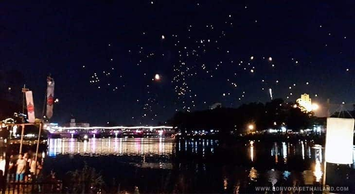 celebrating yeepeng festival by the river