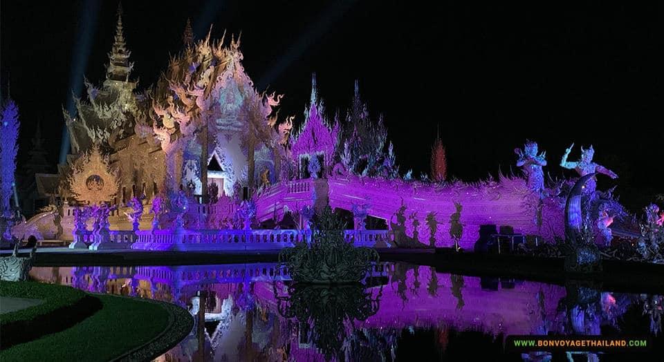 white temple light festival
