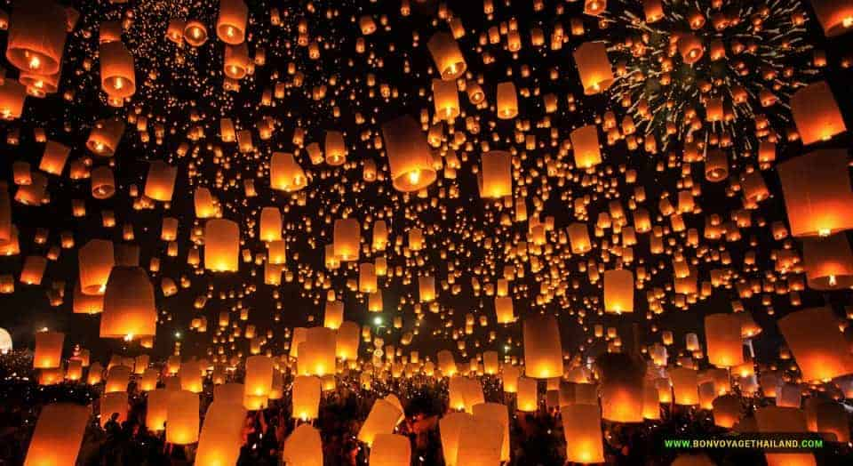 Thousand of Lanterns in the sky