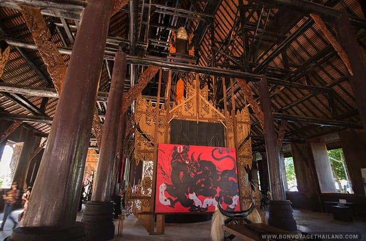 Red Canva at Black House Chiang Rai