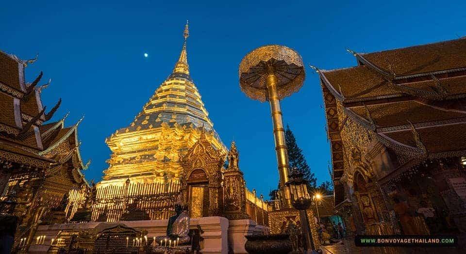 Golden Pagoda - Doi Suthep at Night