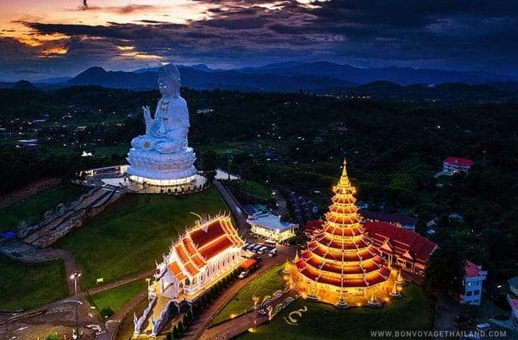 Wat Huay Pla Kang at Night