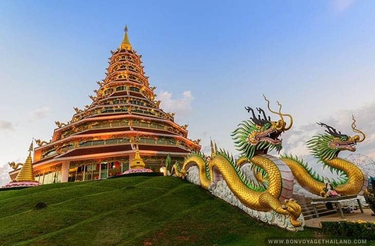 Chinese Pyramid Pagoda at Wat Huay Pla Kang