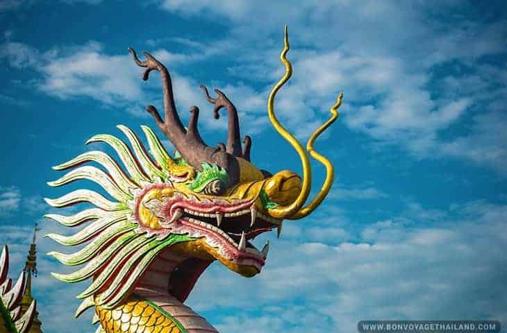 Dragon Head at Wat Huay Pla Kang