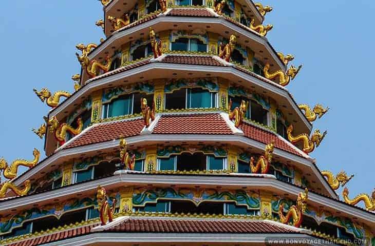 Chinese Pyramid Pagoda Wat Huay Pla Kang