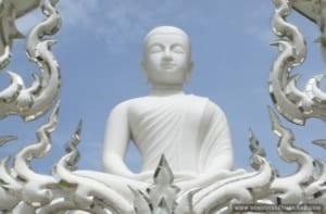 White Temple White Buddha