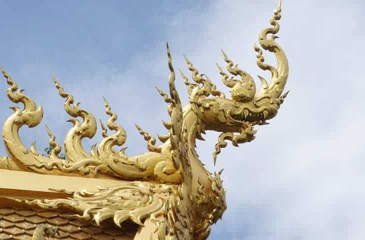 Temple Blanc Naga en Or
