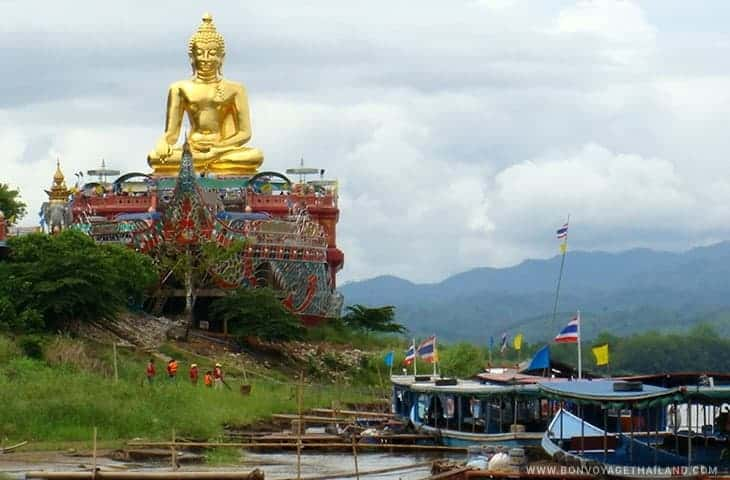 Golden Triangle Sitting Buddha in a Boat