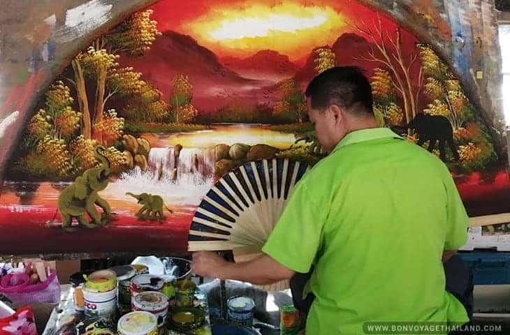Man Painting an Umbrella